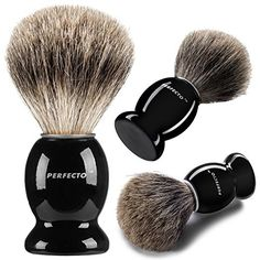 $15 Perfecto 100% Pure Badger Shaving Brush With Black Handle-Engineered to deliver the Best Shave of Your Life!!! No Matter what method you use, Safety Razor, Double Edge Razor, Straight Razor or Shaving Razor, This is the Best Badger Brush!!! Perfecto http://smile.amazon.com/dp/B00VF1NI5M/ref=cm_sw_r_pi_dp_IQcJwb08PM5XW