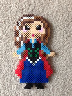 Anna Frozen perler beads by Amy Johnson Castro