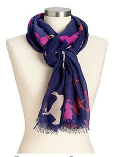 The EquestrianTeen: Equestrian Fall 2013 Accessories for Less Horse Print Scarf!