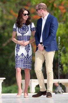 Kate's Mosaic-Print Naeem Khan Dress She Wore to the Taj Mahal