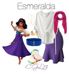 """Esmeralda"" by cgl13 ❤ liked on Polyvore featuring Thierry Mugler, Jules Smith, Chicwish, Zero + Maria Cornejo, Faliero Sarti, Lana, H&M, disney, disneybound and hunchbackofnotredame"