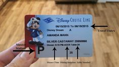 How to read your Key To World Card aboard Disney Cruise Line!