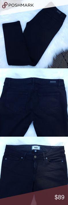 100% Authentic Paige denim jeans Black stretch Paige straight leg jeans. Worn once. Perfect condition. Size 28 PAIGE Jeans Straight Leg