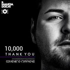 🗣 10,000 THANK YOU‼  Thank you to all my Facebook Fans‼🙏🏻 ''Love Is Music''...❣🎧❣ L'amore è in musica e voi me lo ricordate di giorno in giorno con il vostro affetto. Grazie di cuore.❤️  ☑ MusicOn | It's all about the music 📢 © #DomenicoCiaffone™® - #OfficialFacebookPage ✅ FOLLOW ME‼⬇🙏🏻⬇ 👤 ↪️ https://www.facebook.com/DomenicoCiaffoneOfficialPage/ ↩️