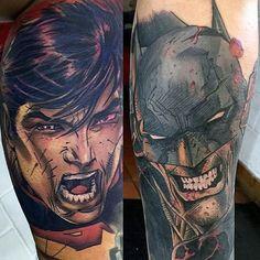 Superman and Batman Tattoo Designs