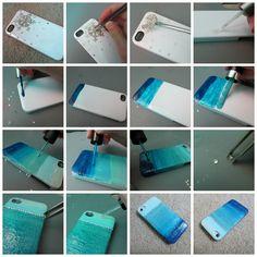 DIY ombré phone case w/ nail polish!
