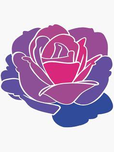 Bi Flag, Lesbian Art, Bisexual Pride, Transparent Stickers, Sticker Design, Sell Your Art, Aesthetic Wallpapers, Watercolor Paintings, Drawings