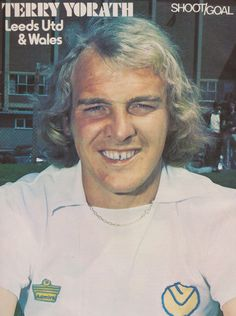 Terry Yorath of Leeds Utd in Terry Yorath, Football Stickers, Leeds United, The Unit, Memories, Peacocks, Lady, 1970s, Sport