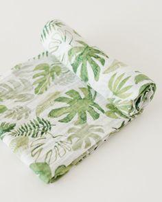 Cotton Swaddle - Tropical Leaf