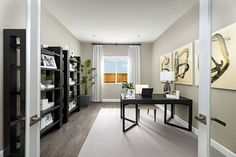 Superb study | Deacon model home | Dixon, California | Richmond American Homes Richmond American Homes, Model Homes, Offices, Study, Room, Furniture, Home Decor, Bedroom, Studio