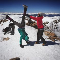 """What Really Happens at the Top of 14ers"" featuring @taradactyl02 & yours truly.  Hiking San Luis Peak this weekend w one of my first Colorado friends!"