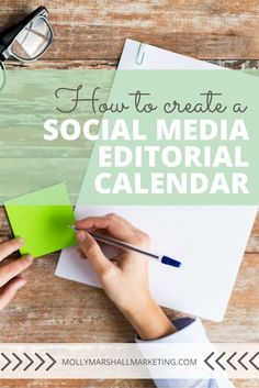 """At it's core, a social media """"editorial calendar"""" is really just a place to keep, plan and organize all of your social media posts. Let me show you a simple way to create a social media editorial calendar that works! Facebook Marketing, Marketing Digital, Content Marketing, Social Media Marketing, Marketing Ideas, Business Marketing, Online Marketing, Social Media Content, Social Media Tips"""
