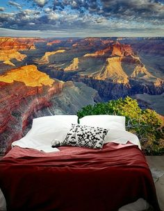 papier peint trompe l'oeil du Grand Canyon dans la chambre