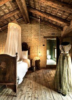 Rustic - bedroom | via Le case di Elixìr