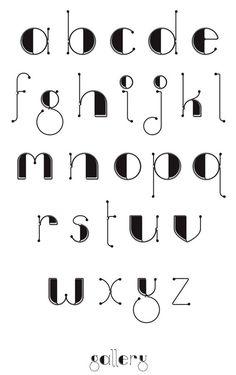 Gallery Font by Linda Munt, via Behance Hand Lettering Alphabet, Doodle Lettering, Creative Lettering, Lettering Design, Cute Fonts Alphabet, Lettering Styles Alphabet, Decorative Lettering, Lettering Tattoo, Graffiti Lettering