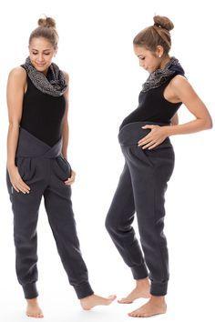 Bequeme und warme Umstandshose für Schwangere, praktisch und modisch / fashionable pregnancy wear: comfy trousers for mothers to be made by GoFuture via DaWanda.com