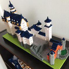 삼일만에 완성! 영화 미녀와 야수에 나왔던 성 Schloss Neuschwanstein Castle #la#losangeles#daily#nanoblock#schloss#neuschwanstein#미국#엘에이#일상#나노블럭#팔로우#맞팔#레고#독일