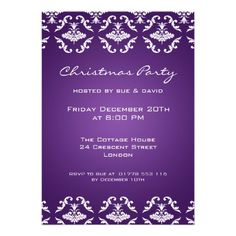 5x7 Party Invitation Elegant Pattern Purple  Click on photo to purchase. Check out all current coupon offers and save! http://www.zazzle.com/coupons?rf=238785193994622463&tc=pin