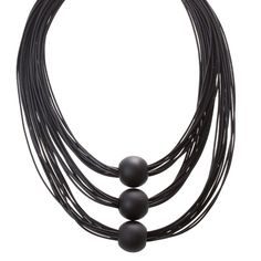 This necklace uses layers of black strands to create a textured look, held together with a trio of matte black beads. Lovisa Jewellery, Matte Black, Cord, Wax, Beaded Necklace, Statement Necklaces, Beads, Detail, Jewelry