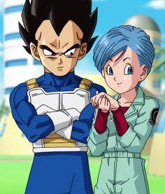 Bulma and Vegeta (Dragon Ball Super) (c) Toei Animation, Funimation & Sony Pictures Television Dragon Ball Z, Kid Goku, Dbz Characters, Goku And Vegeta, Anime Japan, Manga Games, Anime Couples, Animation, Cute