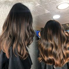 20 Dark Ombre Hair Colors for Long Hair Brunettes, Dark ombre hair colors for long hair brunettes are super low-maintenance and you do not even have to dye your entire head. It is one of the easiest lo. Dark Ombre Hair, Dark Brunette Hair, Ombre Hair Color, Blonde Ombre, Blonde Color, Hair Colors, Easy Updos For Long Hair, Latest Hair Color, Beautiful Hair Color