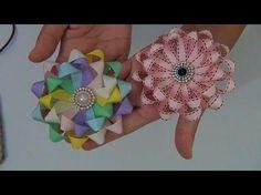 Laço Trançado by Tatiana Karina - How To Make a Hair Bow Ribbon Art, Diy Ribbon, Ribbon Crafts, Flower Crafts, Diy Flowers, Fabric Flowers, Fabric Crafts, Flower Diy, Making Hair Bows