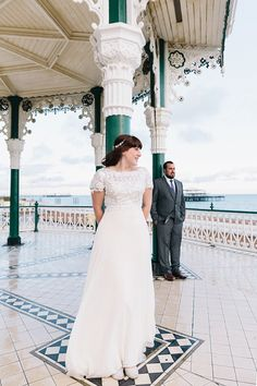 96747c85ca6e A Rainy Day Brighton Bandstand Wedding
