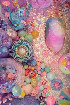 pastel and neon coral Instalation Art, Belle Photo, Pastel Colors, Color Inspiration, Sea Shells, Illustration, Iphone Wallpaper, Artsy, Rainbow
