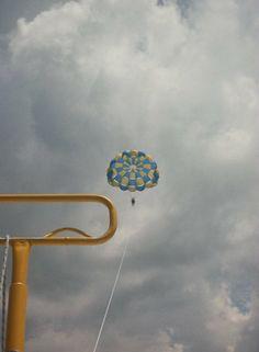 Up, up, & away.. Parasailing, St. Pete, Florida; August 2010