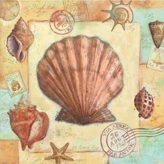 Medium Beach Clipart, Nautical Art, Beach Design, Decoupage Paper, Learn To Paint, Beach Art, Print Pictures, Illustrations, Painting On Wood
