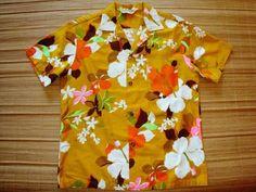 Mens Vintage 60s Royal Hawaiian Tiki Oasis Shirt L