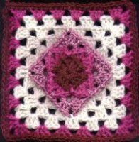 fourth gneration granny Square dedicated to Melissa's grandmother