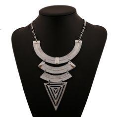 2017 Fashion Boho Bijoux Femme Necklaces Ethnic Colar Vintage Choker Collar Element Spikes Statement Necklaces FEAL N342