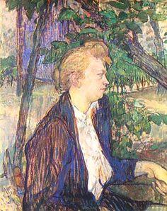 "Henri de Toulouse-Lautrec, ""donna seduta in un giardino (Donna Seduta in giardino)"", 1891, I Trustees della National Gallery, Londra (London. .."