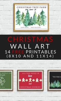 Free Christmas Printables Holiday Wall Decor Ideas Free