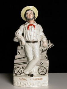 """""""Ready and Willing: A English Sailor of the Crimea"""" Staffordshire Pottery figure, c.1830-70"""