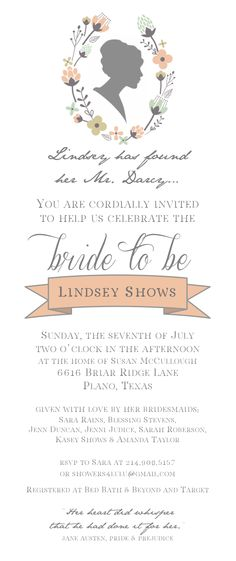 for lindsey's jane austen bridal shower :)