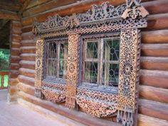 Venetian Red Notebook: Windows on Russia Wooden Architecture, Russian Architecture, Architecture Details, Russian Folk Art, Russian Style, Log Cabin Homes, Red Art, Window View, Wooden House