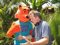 ... Derek Savage directing Cool Cat on Cool Cat Saves the Kids set.
