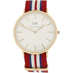 9080789ae5b Daniel Wellington Classic Exeter Rose Goldtone 40mm NATO Strap Watch DW82  ** Details can be