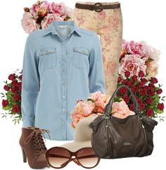 """""""Flora craze"""" by snowshoekittens ❤ liked on Polyvore"""