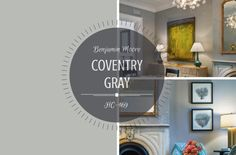 COLOUR SPOTLIGHT – Benjamin Moore Coventry Gray HC-169 | ROWE SPURLING PAINT COMPANY