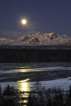 Chulitna Moon by Ed Boudreau on 500px