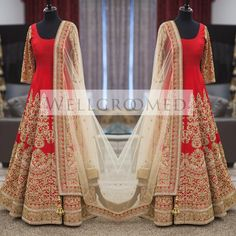 The details in this gorgeous red #anarkali are absolutely #breathtaking Check out Wellgroomed Designs Inc                                                                                                                                                                                 More
