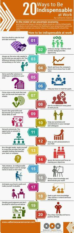 20 Formas de ser Indispensável no Trabalho