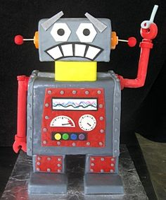 short legs on the robot will make it easier for the cake to stand