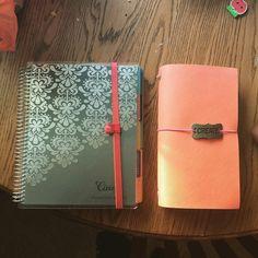 """""""February Planners: my Erin Condren planner to keep track of my crazy life and my happiedori for journaling. #febplannerchallengelove #wlec #erincondren…"""""""