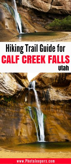 If you want to check out the amazing waterfall at the end of the Calf Creek Falls trail in Utah, read our guide first. It includes trail length, time estimates, the best things to see along the trail, and our best photography tips for this trail. Don't forget to save this to your hiking or travel board.