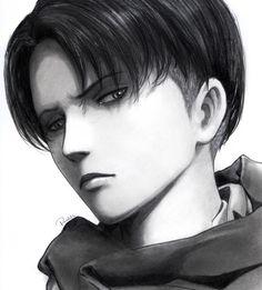 Los tonos negros dejan una escencia sombria que enamora a cualquiera :v Levi Rivalle / Shingeki no Kyojin