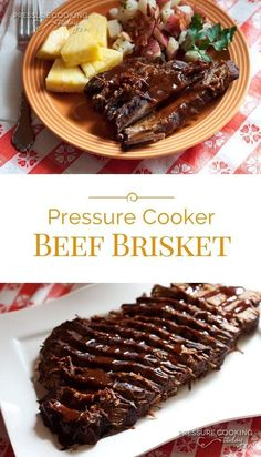 Enjoy a smokey flavored brisket in a fraction of the time in a pressure cooker. . . #dinner #brisket #pressurecooking